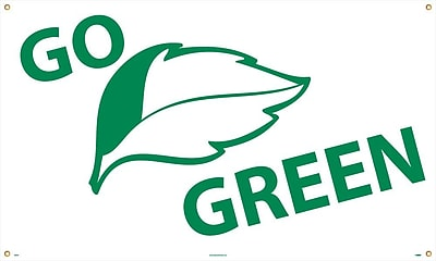 Go (Graphic) Green, 3Ft X 5Ft, Polyethylene