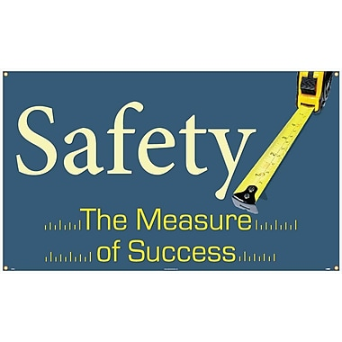 Banner, Safety The Measure Of Success, 3Ft X 5Ft