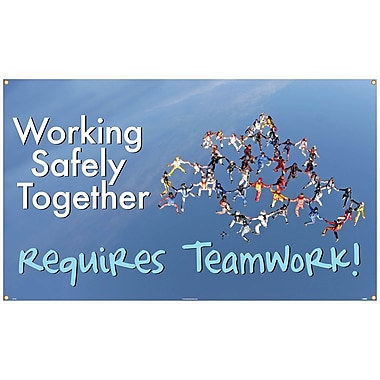 Banner, Working Safety Together Requires Teamwork, 3Ft X 5Ft
