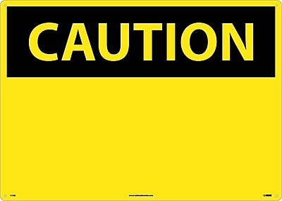 Caution, (Header Only), 20X28, .040 Aluminum