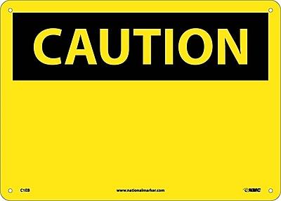 Caution, (Header Only), 10X14, Fiberglass