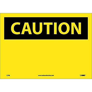 Caution, (Header Only), 10X14, Adhesive Vinyl