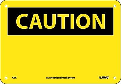 Caution, (Header Only), 7X10, Rigid Plastic