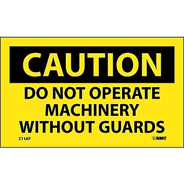 Caution, Do Not Operate Machinery Without Guards, 3