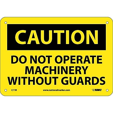 Caution, Do Not Operate Machinery Without Guards, 7