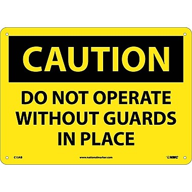 Caution, Do Not Operate Without Guards In Place, 10