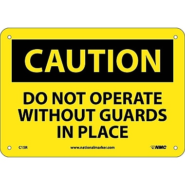 Caution, Do Not Operate Without Guards In Place, 7