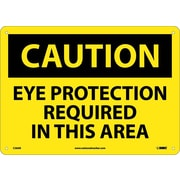 Caution, Eye Protection Required In This Area, 10X14, .040 Aluminum