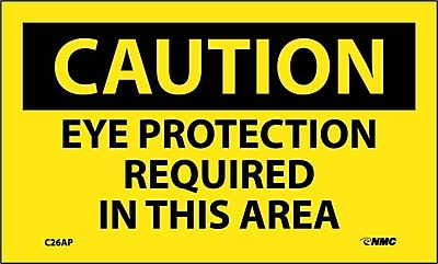 Caution, Eye Protection Required In This Area, 3X5, Ps Vinly, 5/Pl