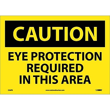 Caution, Eye Protection Required In This Area, 10