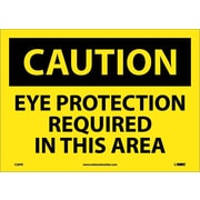 Caution, Eye Protection Required In This Area, 10X14, Adhesive Vinyl