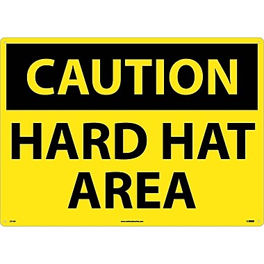 Caution, Hard Hat Area, 20X28, .040 Aluminum