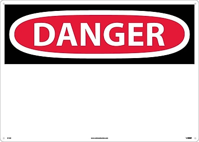 Danger, (Header Only), 20X28, .040 Aluminum