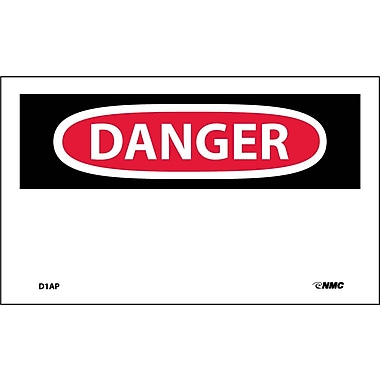 Labels - Danger, (Header Only), 3X5, Adhesive Vinyl, 5/Pk