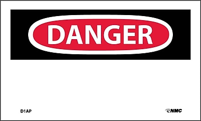 Labels - Danger, (Header Only), 3X5, Adhesive Vinyl, 5/Pk
