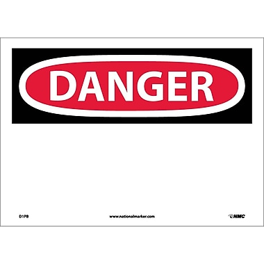 Danger, (Header Only), 10X14, Adhesive Vinyl