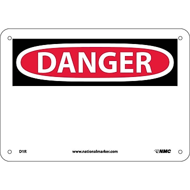 Danger, (Header Only), 7X10, Rigid Plastic