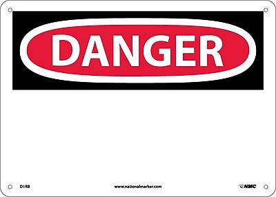 Danger, (Header Only), 10X14, Rigid Plastic