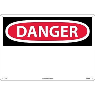Danger, (Header Only), 14X20, Rigid Plastic