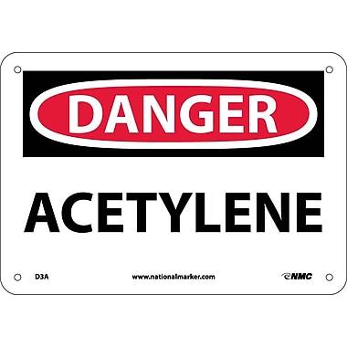 Danger, Aceytlene, 7X10, .040 Aluminum