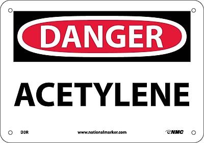 Danger, Acetylene, 7X10, Rigid Plastic