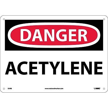 Danger, Acetylene, 10X14, Rigid Plastic