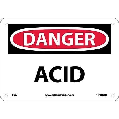 Danger, Acid, 7X10, .040 Aluminum