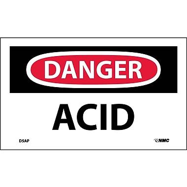 Labels Danger, Acid, 3