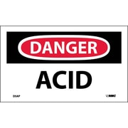 Labels - Danger, Acid, 3X5, Adhesive Vinyl, 5/Pk