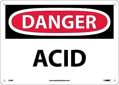 Danger, Acid, 10X14, Rigid Plastic