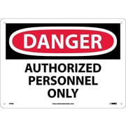 Danger, Authorized Personnel Only, 10X14, Fiberglass
