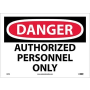 Danger, Authorized Personnel Only, 10X14, Adhesive Vinyl
