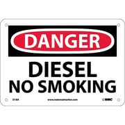 Danger, Diesel No Smoking, 7X10, .040 Aluminum