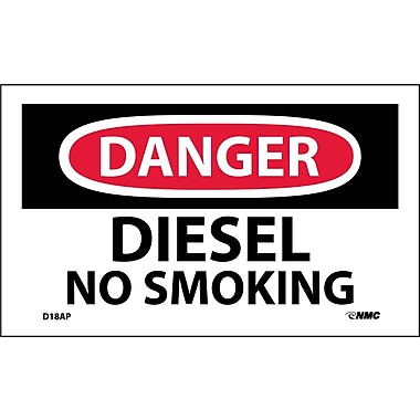 Labels Danger, Diesel No Smoking, 3