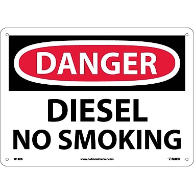 Danger, Diesel No Smoking, 10X14, Rigid Plastic
