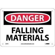Danger, Falling Materials, 7X10, Rigid Plastic
