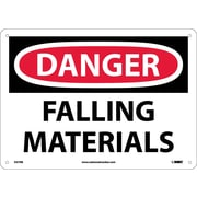 Danger, Falling Materials, 10X14, Rigid Plastic