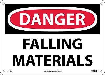 Danger, Falling Materials, 10X14, Rigid Plastic