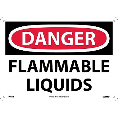 Danger, Flammable Liquids, 10X14, .040 Aluminum