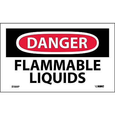 Labels Danger, Flammable Liquids, 3