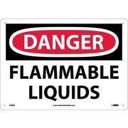 Danger, Flammable Liquids, 10X14, Fiberglass