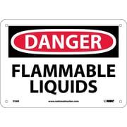 Danger, Flammable Liquids, 7X10, Rigid Plastic