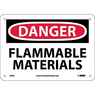 Danger, Flammable Materials, 7