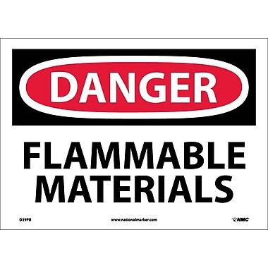 Danger, Flammable Materials, 10