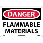 Danger, Flammable Materials, 10X14, Rigid Plastic
