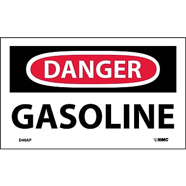 Labels Danger, Gasoline, 3