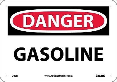Danger, Gasoline, 7X10, Rigid Plastic