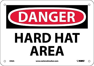 Danger, Hard Hat Area, 7X10, .040 Aluminum