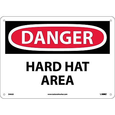 Danger, Hard Hat Area, 10X14, .040 Aluminum
