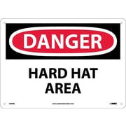 Danger, Hard Hat Area, 10X14, Fiberglass